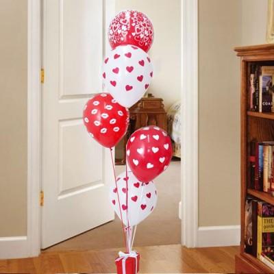 Bouquet x 5 globos de amor con helio regalos san valentin cali for Decoracion amor y amistad oficina