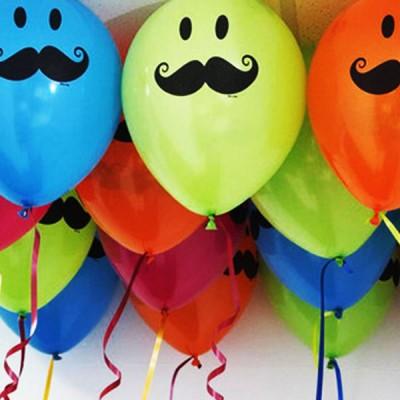 Globos con helio cali de bigote unidad para hombres y ni os - Bombas para decorar ...