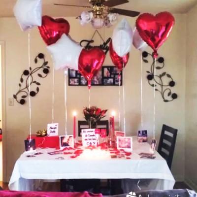 Decoracion romantica en medellin con petalos de rosas a - Decoracion habitacion romantica ...