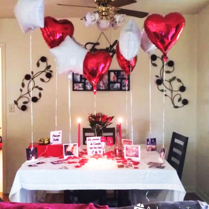 Flores y regalos a domicilio en cali medell n bogot for Cuartos decorados romanticos con globos