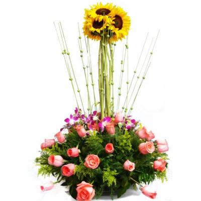 Arreglo Floral Topiario
