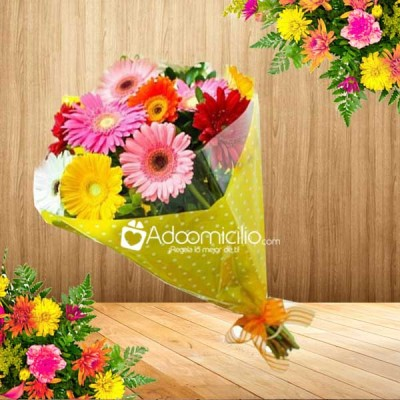 Arreglos Florales Cali Bouquet De Gerberas