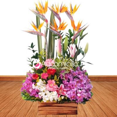 Ramos De Flores Cali Arreglo Floral Con Orquideas Y Lirios