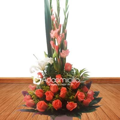 Ramos De Flores Cali Arreglo Floral Salmón