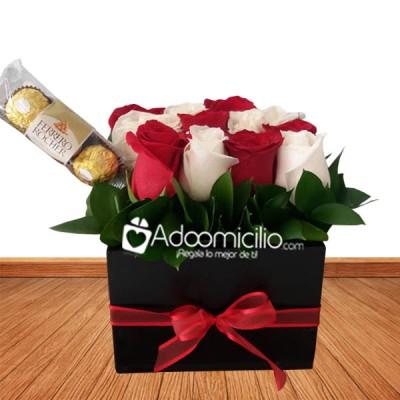Arreglos Florales A Domicilio En Cali Caja De Madera Con Rosas Y Chocolates