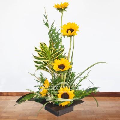 Arreglos Florales A Domicilio En Bogota Arreglo Floral Girasol