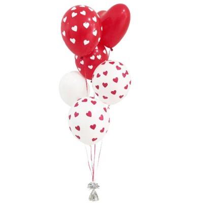 Bouquet amor x 7 globos en helio - Llenar globos con helio ...