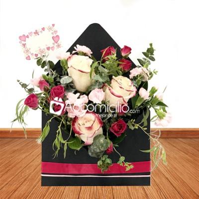Arreglos Florales Amor Y Amistad A Domicilio En Bogota Arreglo Flores Naturales En Sobre