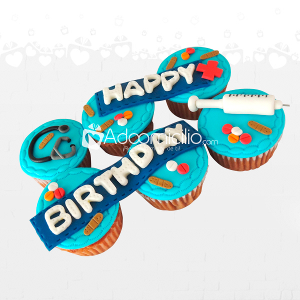 Happy Birthday Estuches De Cupcakes x 6 A Domicilio En Cali Pedido Con Un Dia De Anticipación