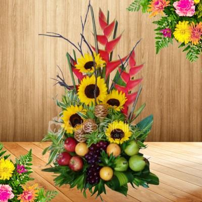 Girasoles y frutas regalos d a de la madre a domicilio en for Margarita saieh barranquilla telefono