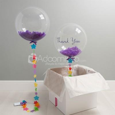 Gracias globo confeti globos con helio a domicilio en for Donde comprar globos