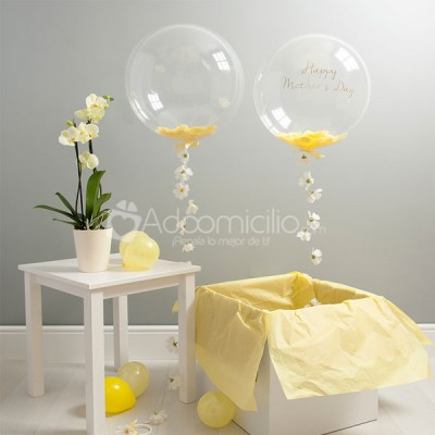 Globo confeti margaritas d a de la madre globos con for Margarita saieh barranquilla telefono