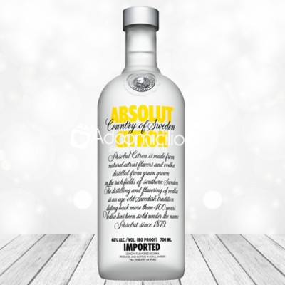 Regalos con licor a domicilio en Cali Vodka Absolut Citron 750 m