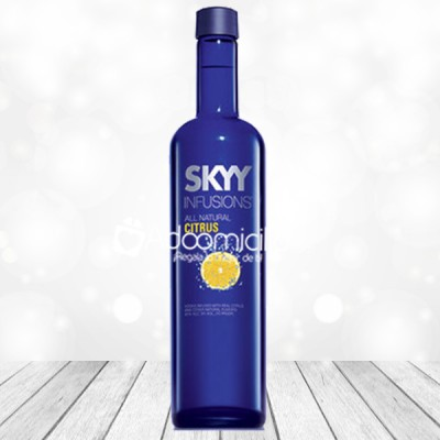 Regalos con licor a domicilio en Cali Vodka Skyy Infusion Citrus 700 ml