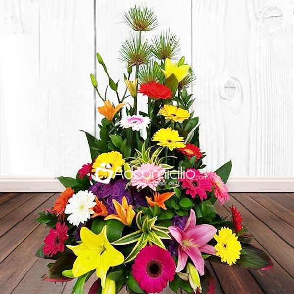 Ramos de flores para cumpleaos a domicilio en Manizales Arreglo de