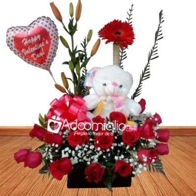 Flores para amor y amistad a domicilio en cali arreglo for Plantas decorativas artificiales bogota