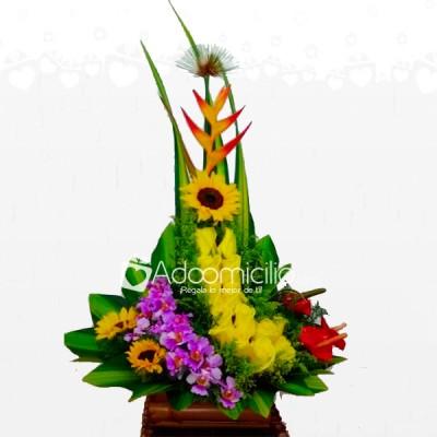 Arreglo Floral Tropical Para El Dia De La Madre A Domicilio En Cali