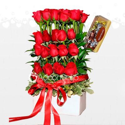 Regalos De Rosas Con Chocolates Arreglos Florales A Domicilio En Medellin