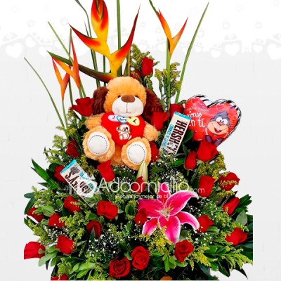 Flores En Armenia Arreglos Florales Con Rosas Y Peluches A Domicilio
