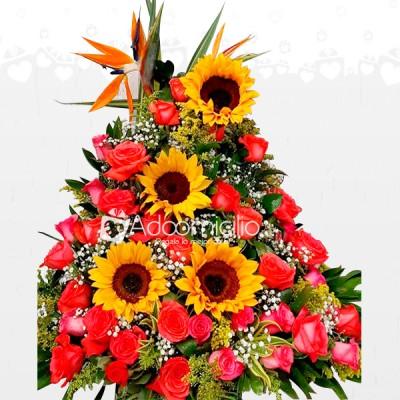 Girasoles Y Rosas Flores Para Dia De La Madre Arreglos Florales En Armenia A Domicilio