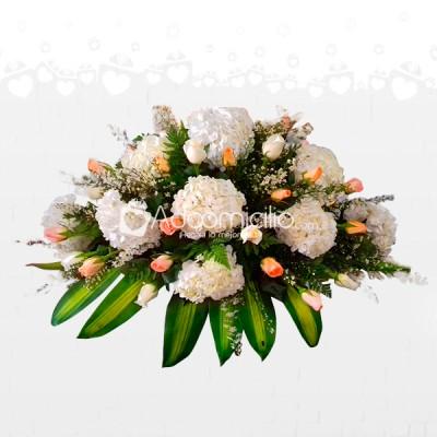 Arreglos Fúnebres A Domicilio En Barranquilla Sudario En Rosas Y Hortensias